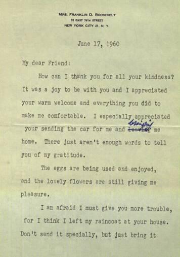 Roosevelt Letter, page 1