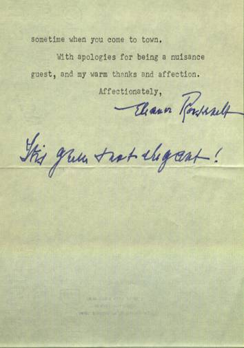 Roosevelt Letter, page 2