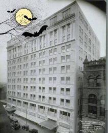 "G. Fox Building ""at Halloween"""