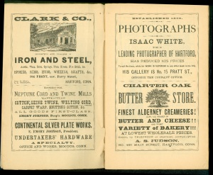 Ads in the 1880 Courant Almanac