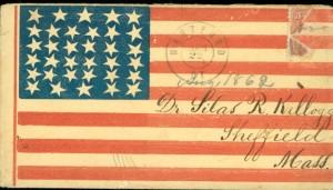 Envelope sent to Silas Kellogg