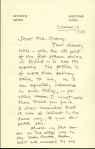 Letter from William Gillette, Cheney papers, 1795-1915, Ms 79282.