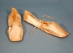 Wedding shoes worn by Ann Frances Darling Ibbotson, Connecticut Historical Society, 1959.30.3a,b.