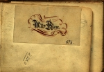William Blore proudly wrote his name inside his book of lace patterns. Ms 101711