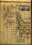 A sample page from William Blore's lace pattern book, showing the sample in the upper right corner. Ms 101711