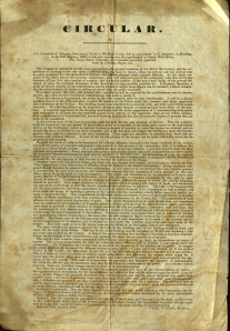 Circular with the report of a committee to examine the Windham County jail. Broadside Medium 1839 C578