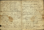 Corn Oysters and Potatoe Pudding are among the recipes in this circa 1845 anonymous cookbook.