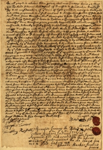 Deed for land in Branford, 1716/17. CHS Ms 101753