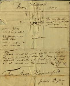Asa Hungerford's directions for setting up a loom to weave satinette. Ms 37053a