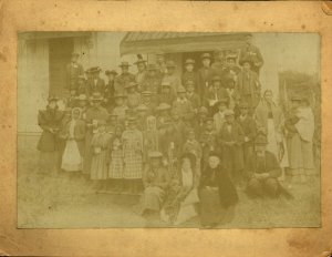 Sallie Holley, Caroline Putnam and the staff and students of the Holley School, Lottsburg, VA, circa 1870-1890.