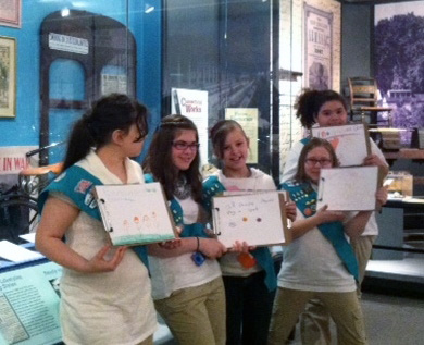 Connecticut Historical Society girl scout program