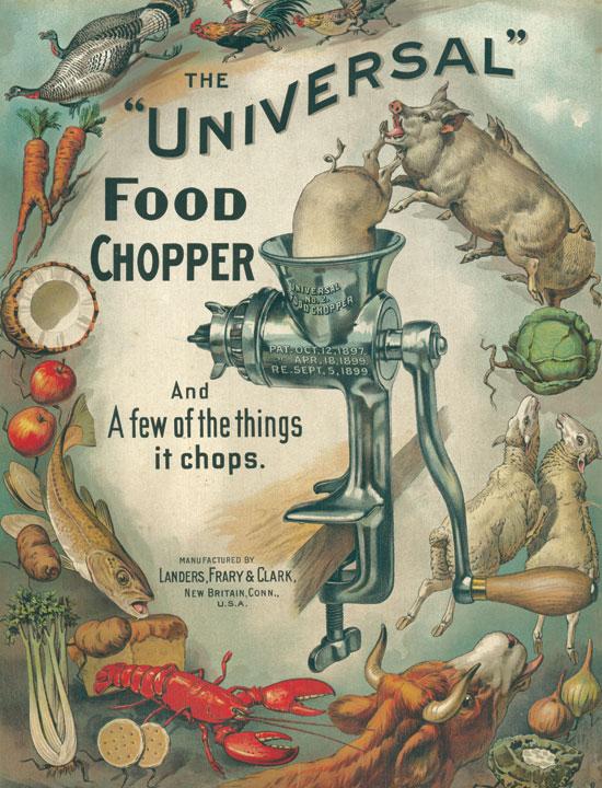 universal food chopper poster