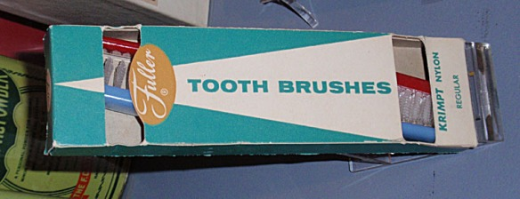 Toothbrushes, made by the Fuller Brush Co., Hartford, 1950s, CHS collection