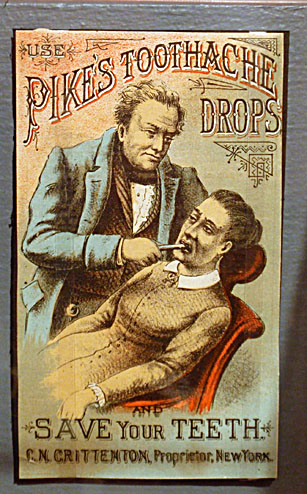 Trade card, Pike's Toothache Drops, C. N. Crittendon, about 1880-1890, CHS collection