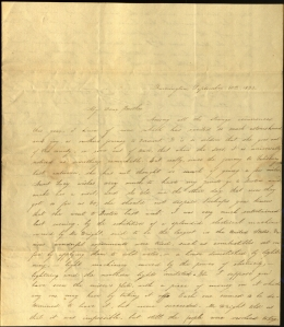 Charlotte Cowles' letter to her brother Samuel about an electrical machine demonstration. September 10, 1833. Ms 101754