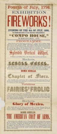 Exhibition of Fireworks! 1860. Broadside. Brdsd Medium 1860 F781f