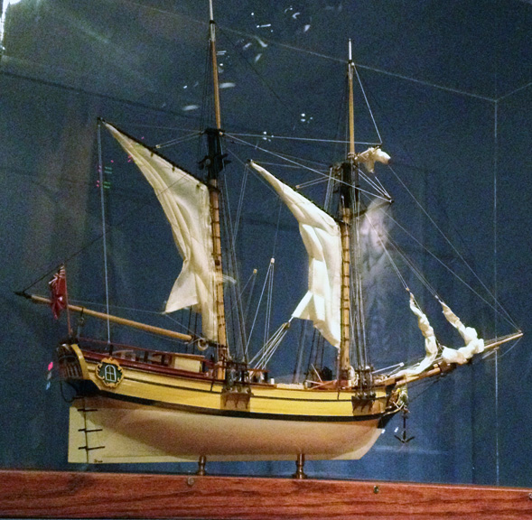 Replica of the war ship, Oliver Cromwell