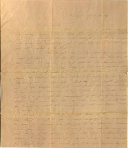 Charlotte Cowles letter to her brother, October 13, 1833.