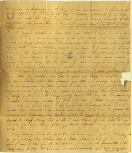 In the top paragraph of this letter Charlotte talks about her fascination with the coronation of Queen Victoria. Ms 101754
