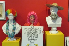 Here I am – enjoying the picture-op area of the Try It! exhibit.