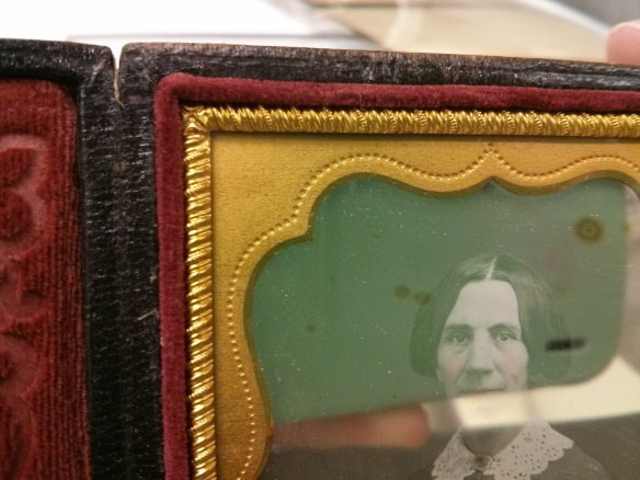Example of the brass mat on a daguerreotype. Lilla E. Kellogg? Photographer unknown. The Connecticut Historical Society collections. 2025 [accession number]