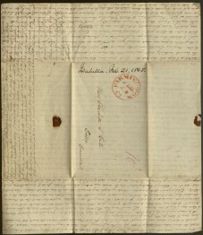 Letter addressed to Charlotte C. Hull from Isabella Hooker. Ms 101809.
