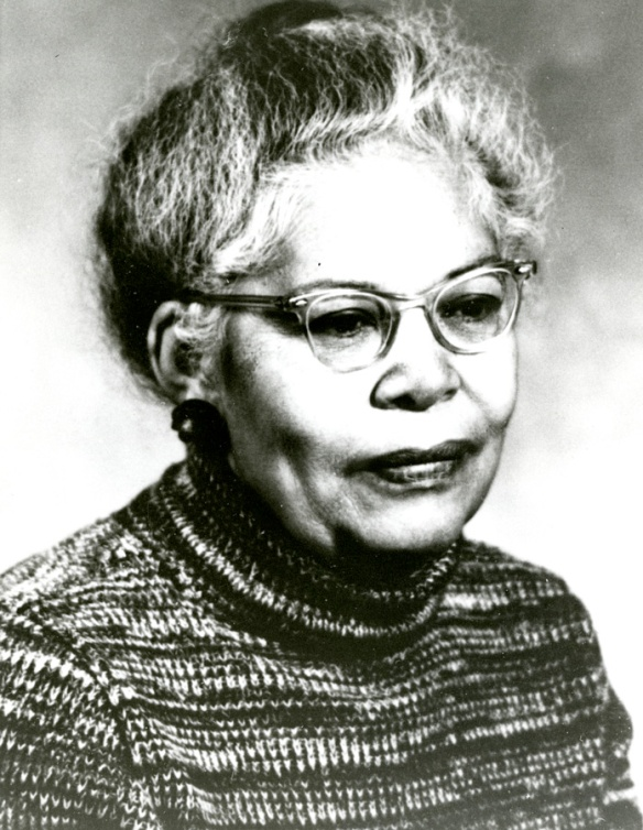 "Ann Petry, photograph reproduced by Robert J. Bitondi, Ms 84342. This manuscript collection features research on 81 Black women of Connecticut who made outstanding achievements in the state. The former CHS exhibition ""Achievements against the Odds"" was based from this research."