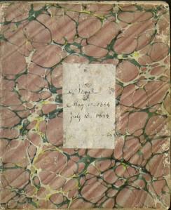 Hannah Smith's diary, Mary 10 to July 15, 1844. Ms 98476