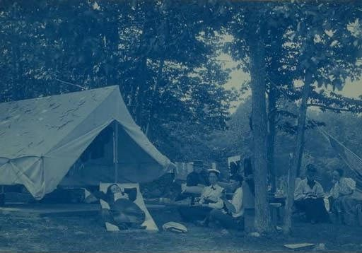 Camp Parlor, Columbia, 1895.  1985.134.483.