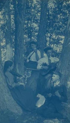 Quartet at Camp Columbia, 1895. 1985.134.476.