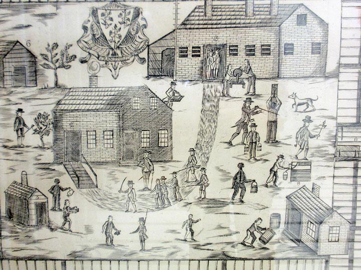 Newgate prison engraving