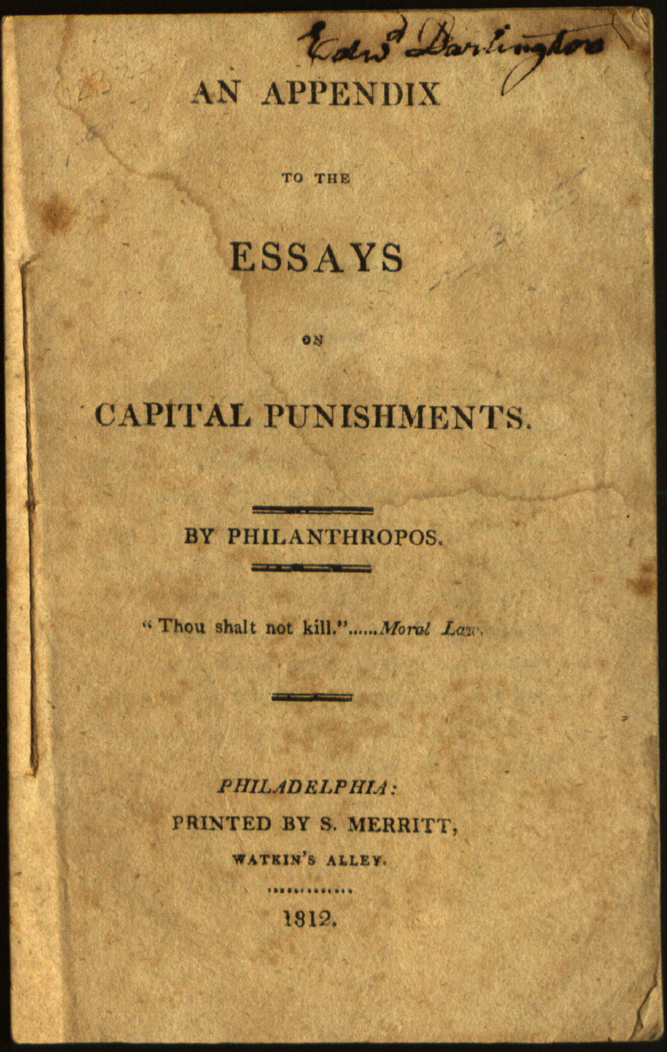 Essay Against Capital Punishment