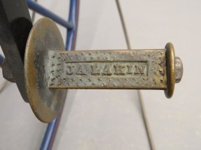 The cast bronze pedals included the maker's name. CHS 2013.210.0 Photo copyright Copake Auction.