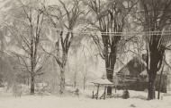 Blizzard of 1898, Norfolk, Connecticut. Photograph by Marie Kendall.