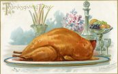 Alas, not every turkey won a reprieve. From a ca. 1908 postcard. 1972.29 collection