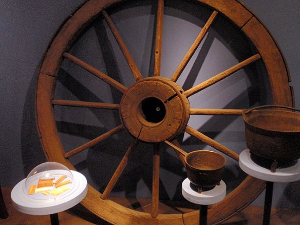 Cart wheel, 18th century, Canterbury, CT, gift of Jeff Baldwin