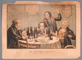 1980.43.2 An Oyster Supper, 1852-1853. Printed by Elijah Chapman Kellogg