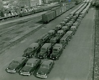 Ready to deliver! The G. Fox & Co. Fleet in 1955. CHS 2007.24.263.