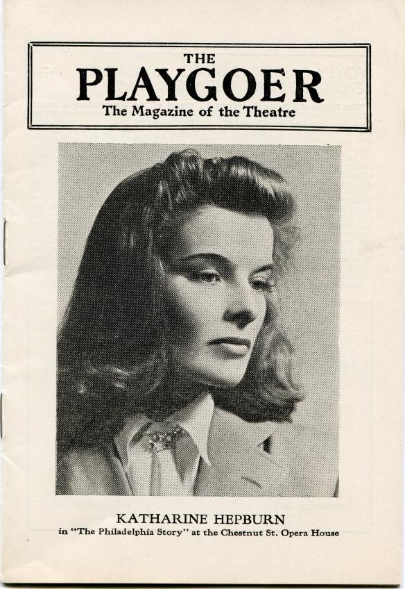 Program for the performance of The Philadelphia Story in Philadelphia around February 16, 1939, KSUM Collection