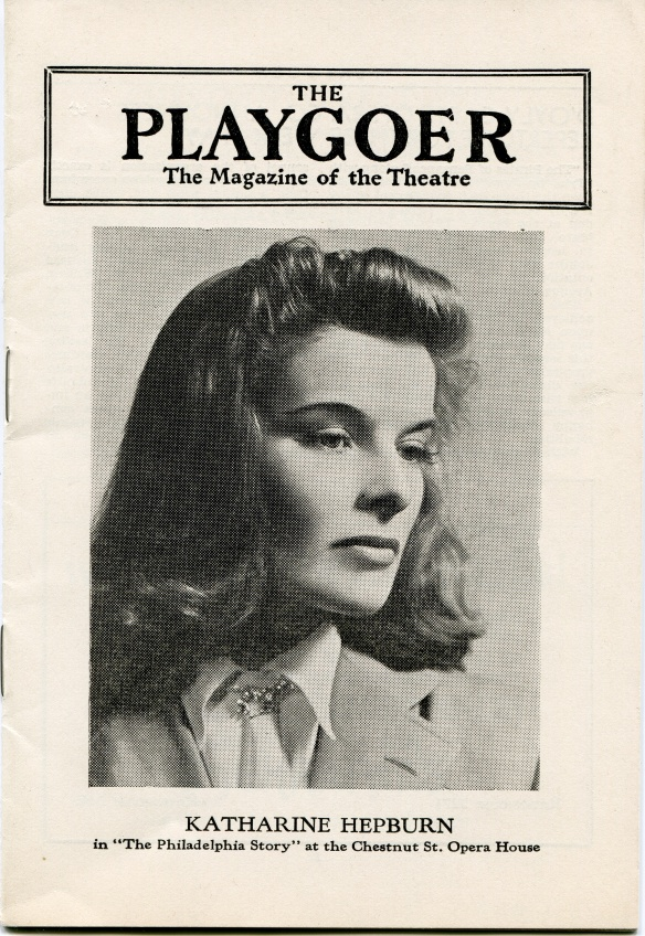 Program for the performance of The Philadelphia Story in Philadelphia around February 16, 1939, KSUM Collection