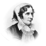 Engraved portrait of Isabella Beecher Hooker, Charlotte Cowles' friend.