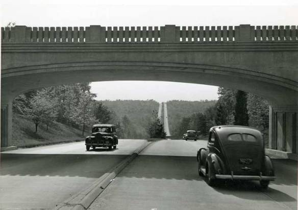 Cars on the Merritt Parkway, 1930s.