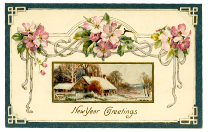 New Year's Greetings.  ca. 1910.  The Connecticut Historical Society.