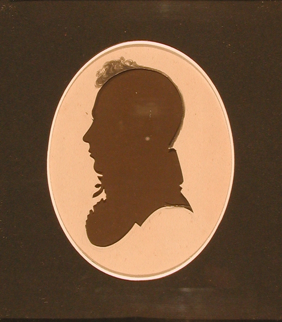 Joseph Morgan. Silhouette by Peter Choice, late 1810s. The Connecticut Historical Society, 2001.111.1