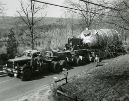 I'm pretty sure this is the steel container they used to transport the Incredible Hulk when they captured him that one time, and not the steam generator on its way to Connecticut Yankee in 1966. Pretty sure.