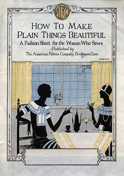 Pamphlet, How to Make Plain Things Beautiful, published by The American Fabrics Co., Bridgeport, 1920s