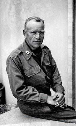 """A """"Monuments Man,"""" Captain Deane Keller, ca. 1944. Deane Keller Papers Yale University"""
