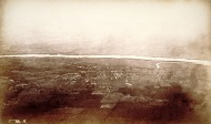 Shortly before landing Doughty took this image of Windsor. Note the Farmington River flowing into the Connecticut River in the distance. CHS X.2000.20.2