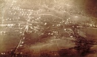 Doughty's first photograph was of two mills in his hometown of Winsted, from an altitude of 3,050 feet. CHS X.2000.20.5