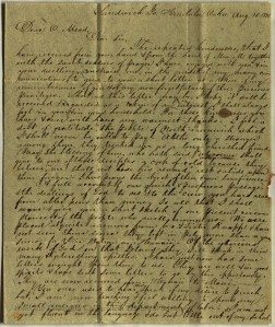 Letter from Amos Starr Cooke in Hawaii to Obadiah Mead of Greenwich, Conn. Ms 63965